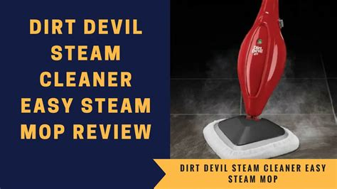 Dirt Devil Steam Cleaner Easy Steam Mop Review - YouTube