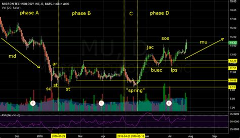 $MU Accumulation Schematic: Wyckoff Events and Phases for