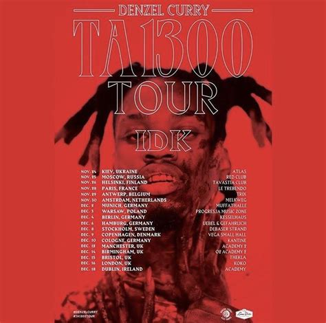 IDK to join Denzel Curry on TA13OO Europe tour : hiphopheads