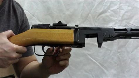 HP airsoft PPsh-41 AEG Selector action - YouTube