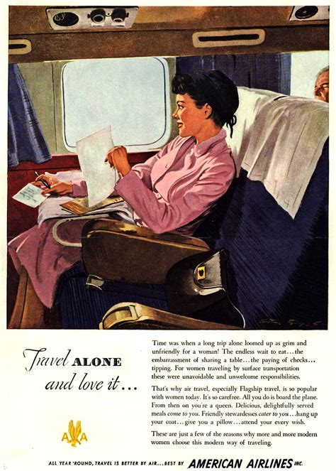 Air Travel Ads / Retro Ad of the Week: American Airlines, 1949
