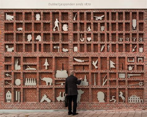 brick wall transformed into a magnified type case by