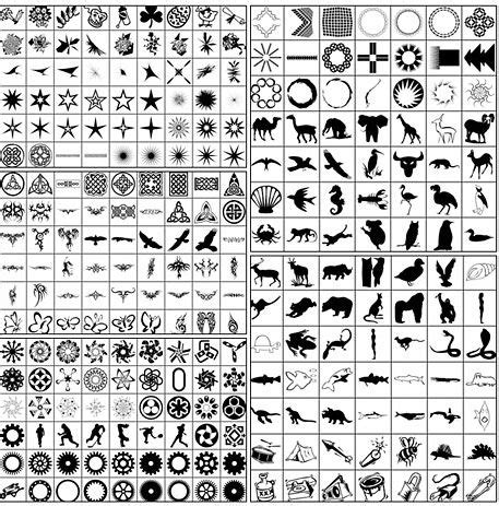 1000+ Free Photoshop Custom Shapes In 40 Sets   Free