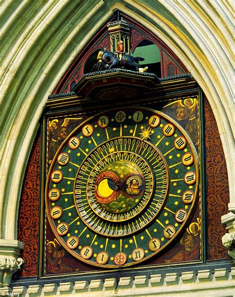 Wells Cathedral clock wound by human hand is replaced with