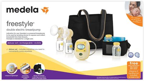 Medela Freestyle Breast Pump, Double Electric, Portable w