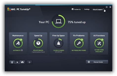 AVG PC TuneUp 2016 - download in one click