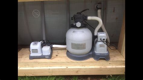 How to backwash Intex sand filter - YouTube
